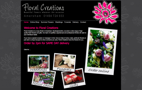 Floral Creations homepage