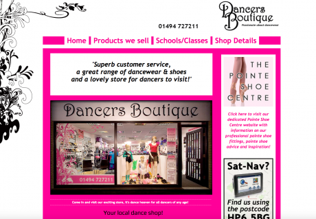 Dancers Boutique Homepage