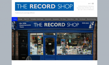 The Record Shop Homepage
