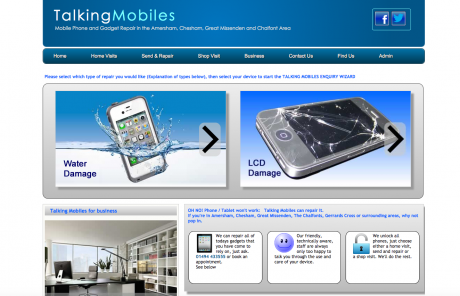 Talking Mobiles Homepage