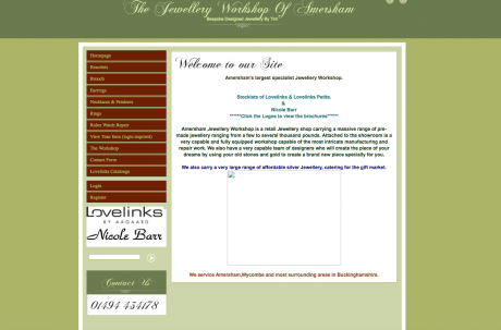 The jewellery Workshop Homepage