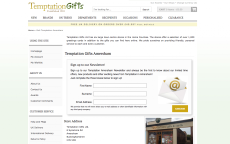 Temptation Gifts Homepage