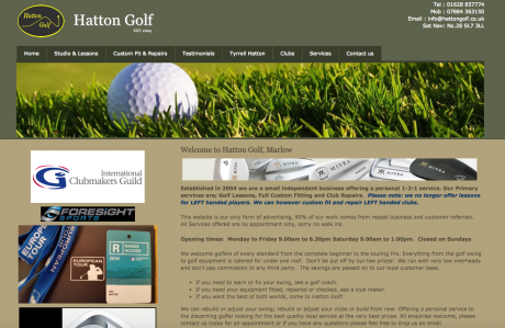Hatton Golf Homepage