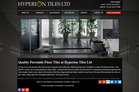 Hyperion Tiles Homepage