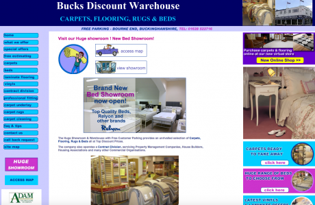 Bucks Discount Warehouse Homepage