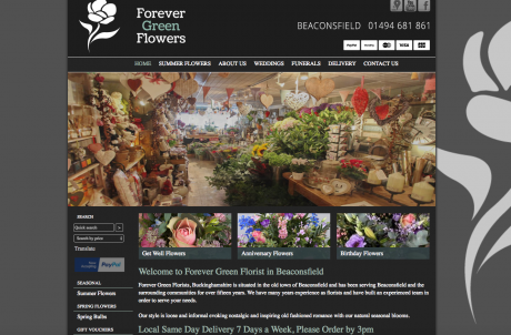 Forever Green Homepage