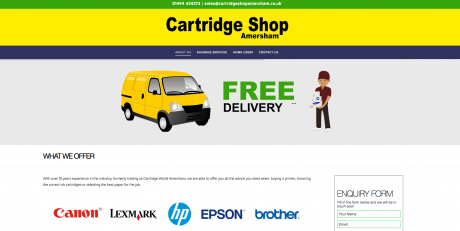 Cartridge Shop Amersham Homepage