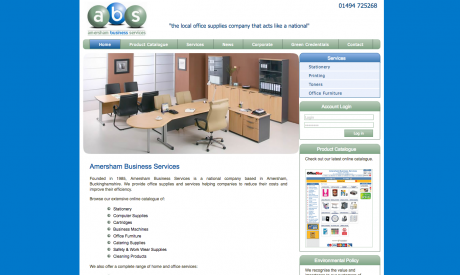 Amersham Business Services Homepage