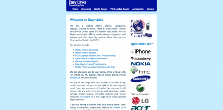 Easy Links Homepage