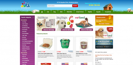 Pets Essentials Homepage