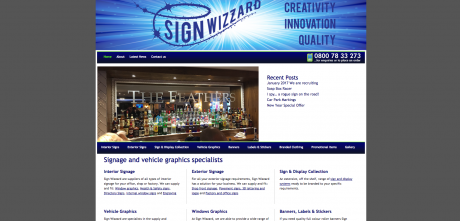 Sign Wizzard Homepage