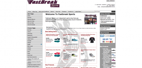 Fastbreak Sports Homepage