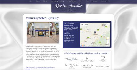 Harrisons Jewellers Homepage